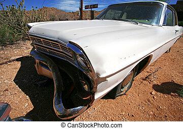 classic antique american cars in desert