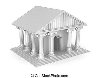 Classic antique greek temple
