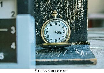 Classic antique wooden clock