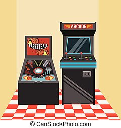 classic arcade video game machines