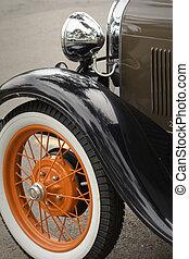 classic autó, restaurálás, átgázol, formál, egy
