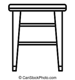 Classic backless chair icon. Outline classic backless chair icon for web design isolated on white background