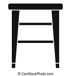 Classic backless chair icon. Simple illustration of classic backless chair icon for web design isolated on white background