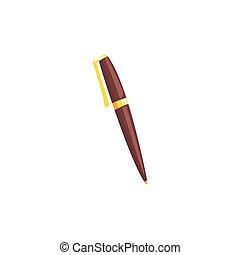 Classic ballpoint pen cartoon vector Illustration