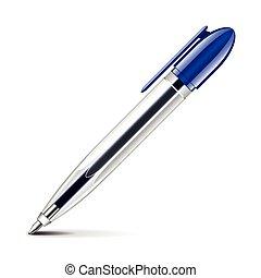 Classic ballpoint pen isolated on white vector