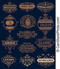 Classic banners set