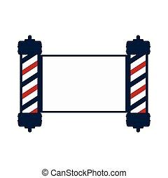 classic barber shop pole