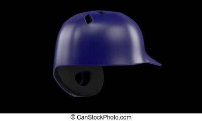 Classic Baseball Helmets 360 rotation loop - Classic...