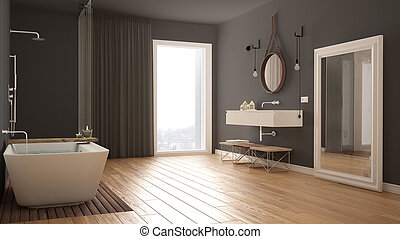 Classic bathroom, modern minimalistic interior design