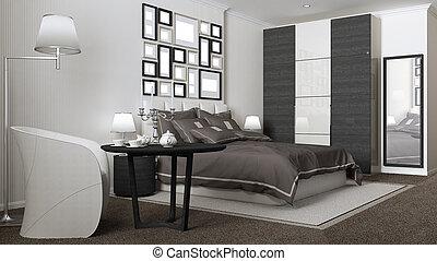 Classic bedroom, hotel, resort