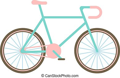 Classic bike vector illustration.