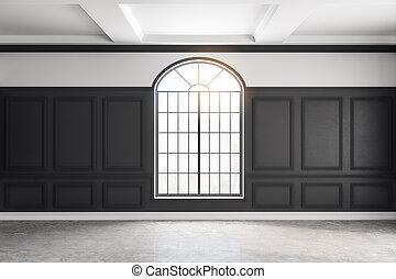 Classic black interior