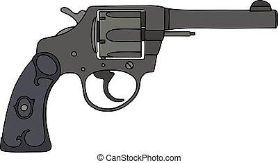 Classic black revolver