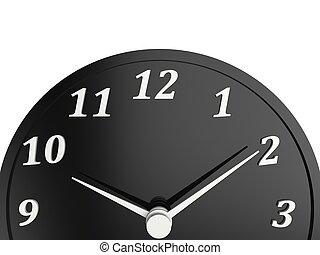 Classic black shiny clock