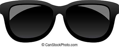 Classic black sunglasses icon