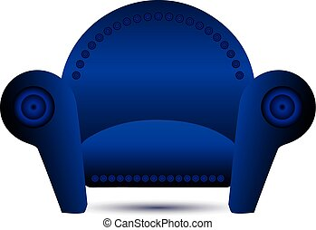 Classic Blue armchair vector icon