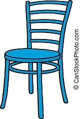 Classic blue chair