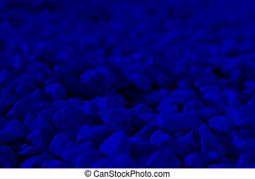 Classic blue color 2020. Texture of stones, decorative stones. Classic blue background, blue toning 19 4052. Abstract trendy background mock up with copy space for text