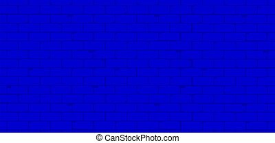 Classic Blue Engineering Brick Wall