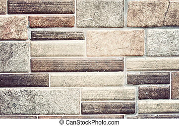 Classic brick wall in vintage style.