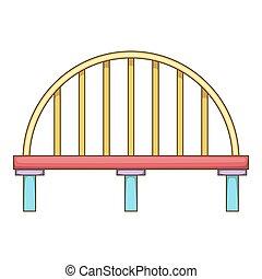 Classic bridge icon, cartoon style