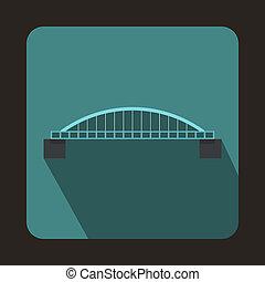 Classic bridge icon, flat style