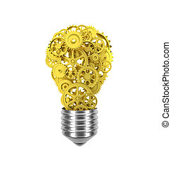 bulb and gear