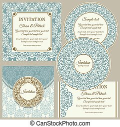 Classic business cards or invitations set