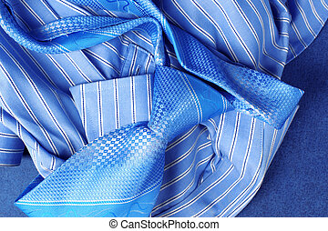Classic business style - Blue Shirt and Tie