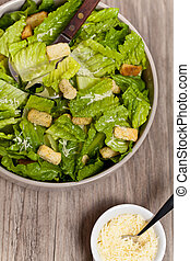Classic Caesar Salad with croutons - The Caesar salad...