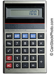 Classic Calculator - A small classic calculator, isolated on...
