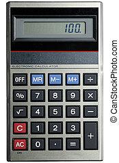 Classic Calculator - A small classic calculator, isolated on...