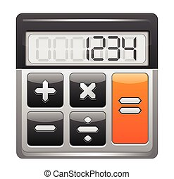 Classic Calculator Icon Isolated on White