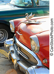 Classic car detail - Detail of vintage classic american car ...