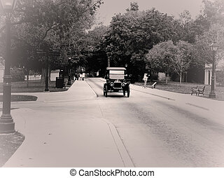Classic car in greenfield village