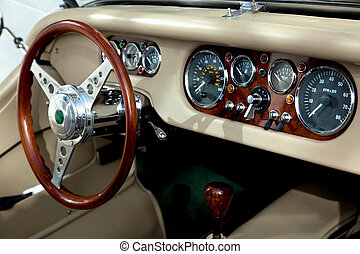 Classic car - The Interior from a classic car