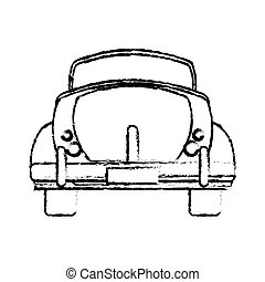 classic car travel image sketch