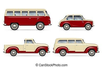 Classic cars vector set