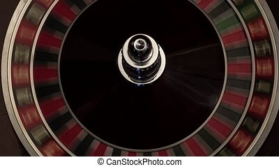 Classic casino roulette wheel black