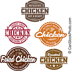 Classic Chicken Stamps - Several different vintage style...