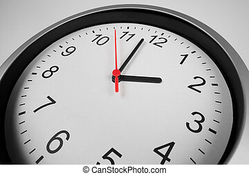 Classic clock macro shot by wide angle lens