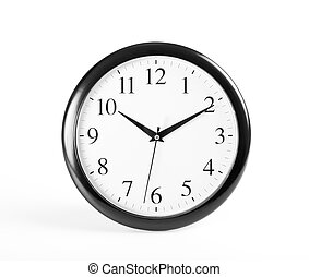 Classic clock on white background.