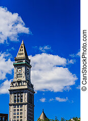 Classic Clock Tower Uner Blue Sky