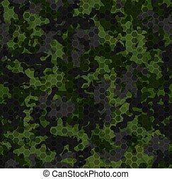 Dark forest camouflage. Seamless pattern background texture