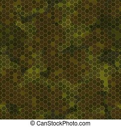 Autumn forest camouflage. Seamless pattern background texture