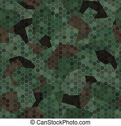 Woodland forest camouflage. Seamless pattern background texture