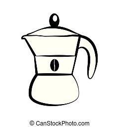 Classic coffee maker icon