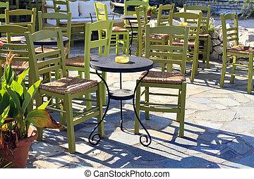 Classic coffee shop in Lefkada, Greece