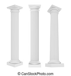 Classic Columns Isolated