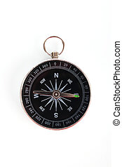 Classic compass isolated on white background